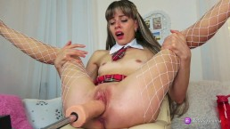 Naughty schoolgirl,loves sex machine.Record Live stream 8