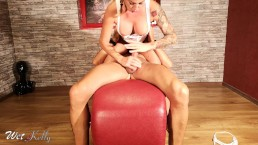 Fit girlfriend grinding on the cock on the love chair in 4k
