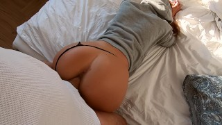 Fit amateur young wife back from training-morning sex Teenager doggy