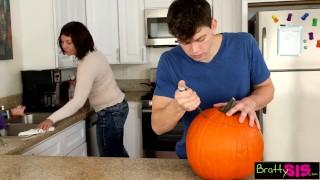 Halloween Pumpkin Fuck Time tits