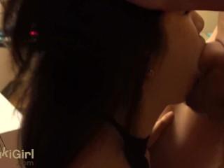 Chinese Wife DEEPTHROAT and FACEFUCK on her knees @Sukisukigirl