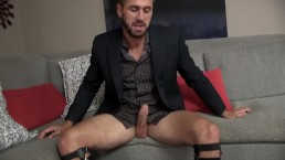 Wesley Woods Confesses His Love Of Stockings While Stroking His Thick Cock