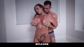 MYLF - Fit Australian Milf Fucked and Filled With Cum  boobs thicc australian mom destroyed busty pounded mylf rough cougar mother housewife big boobs cum inside shaved pussy hard fast fuck