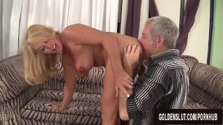 Hot to Trot Mature Blonde Crystal Taylor Sucks Cock and Gets Plowed Milf masturbation