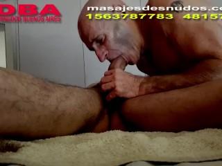 CHUPADA DE PIJA PROFUNDA EN SESION DE MASAJES