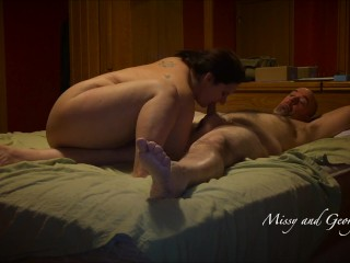 Real Married Couple Sucking and Fucking