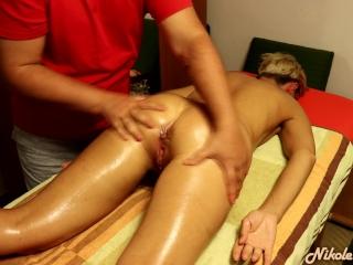 Massage with 2 orgasms