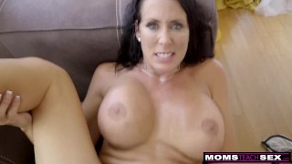 Step MomsTeachSex - Step Mom And Son Cum Together S9:E1 Tv shower