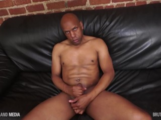 Black daddy milks his cock HD