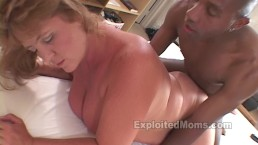 Blonde BBW gets Fucked by a Big Black Cock in Amateur Interracial Video
