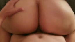 Chubby brunette sucks and fucks ends in a facial