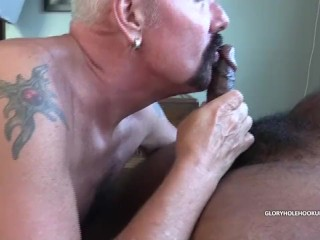 Stew Sucking Off Ebony Masked Man