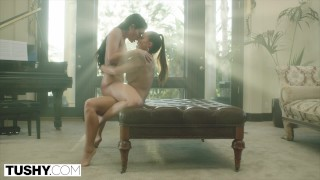 Part abigail  showcase tushycom feature lesbians rimming
