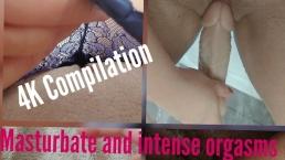 4K Compilation masturbieren und Orgasmen