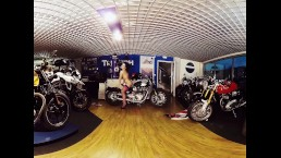 030 - Lucia Denvile - Bikes and Babes TV Sexy VR clips - 3DVR180
