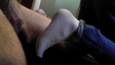 Foot Fuck 2 - Cumming on smooth white socked feet
