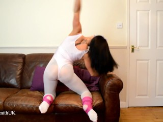 Flexible dancer kiki strips to nude out of...