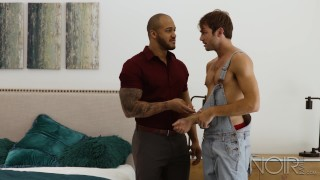 NoirMale Max Adonis Analized By Black Muscle Hunk Jason Vario Blonde of