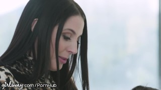Girlsway Lesbian Anal With Abella Danger & Angela White