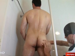 My French straight neighbour serviced in gay porn in spite of him.