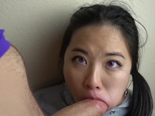 Purple Eyes Asian EPIC pov FACEFUCKING @SukiSukiGirl