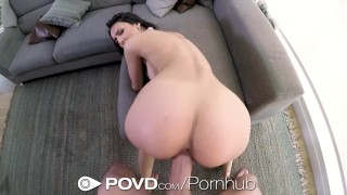 POVD Online date SUCCESS - PUSSY STUFFED Stockings cumshot