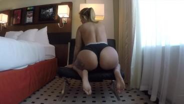 Kleio Valentien Masturbates with big dildo till she cums hard