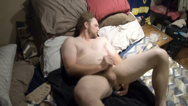 REDNECK TRUCKER DAD HUGE SPADE DILDO RIDE