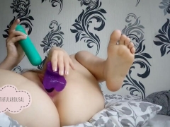 homemade hot masturbation with two toys