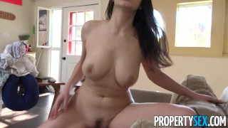 Propertysex fucks hot busty italian surfer host american couch tits cock