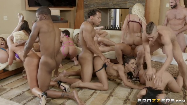 Insane tits - Brazzers house season 3 ep3 abella danger hosts an insane orgy fuck fest