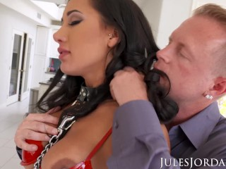 Jules Jordan Amia Miley Is Jules Jordan's Slut Puppy In 4K