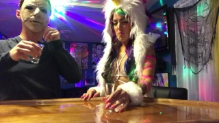 Deadpool rides a unicorn, My Slut wife gets fucked at a Halloween party