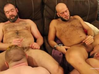 Amateur Bears barebacking Sex Orgy
