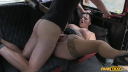 Fake Taxi - Smoking Hot Cougar Lets Her Massive Tits Loose All Over Cabbie