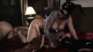 Joanna Angel Gifted Latex Bunnies for Lesbian Orgy that Goes Dark! porno
