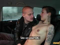 Fake Taxi - Emo GF Fucks BF And Cab Driver In the Back of Taxi