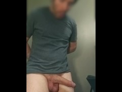 Man's pants fall down and his big dick flies out! Embarrassing!