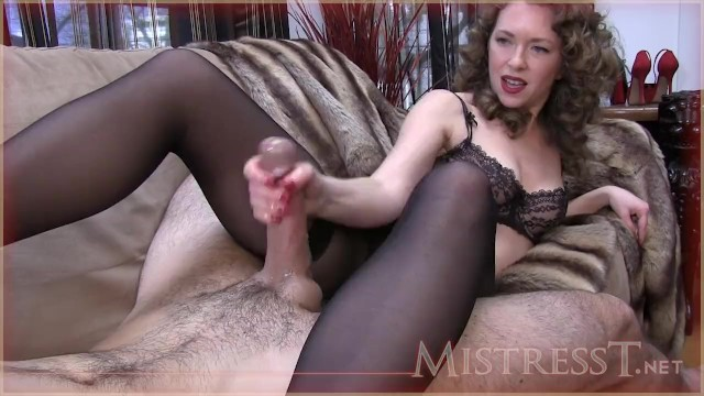Milfs hand job - Hand job whilst sniffing pantys and feet
