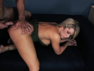 Big Busty Blonde Babe Gets Her Anal Wrecked
