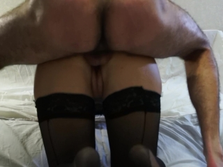 Fucking wife and cumshot on tits
