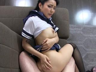 POV Tokyo Schoolgirl Creampie Japanese w/ Rae Lil Black