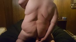 PREVIEW fat gay chubby Jay dragon fucks dildo then cums