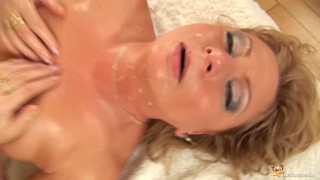 chubby oiled Stepmom rough fisted porno
