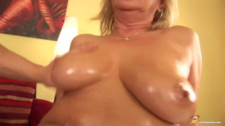 chubby oiled Stepmom rough fisted Spyfam charity