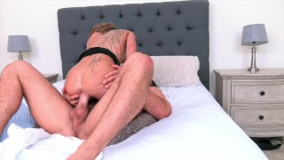 Chad White fucks Kimber Veils rough, cums on her face and pussy