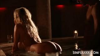 Amazing holiday sinfulxxx sex tape by creampie blonde sucking