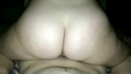 Thick white girl rides and shacks ass on his dick