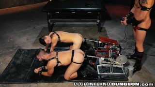 Clubinfernodungeon daddy group fetish machines anal sex ass guys