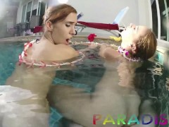 Paradise Gfs - Twins babes take cock in swimming pool P2